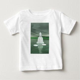buddha green  and steps white baby T-Shirt