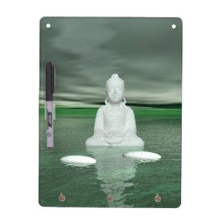 buddha green  and steps white dry erase board