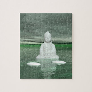 buddha green  and steps white puzzles