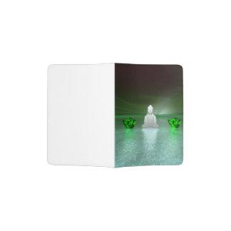 buddha green and water lily green passport holder