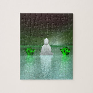 buddha green and water lily green puzzle