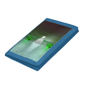 buddha green and water lily green trifold wallets