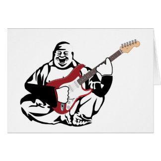 Buddha Guitarist Card