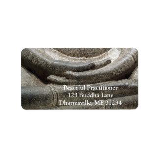 Buddha Hands Meditation Posture Label