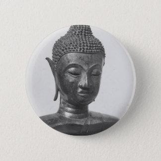 Buddha Head - 15th century - Thailand 2 Inch Round Button