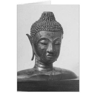 Buddha Head - 15th century - Thailand Card