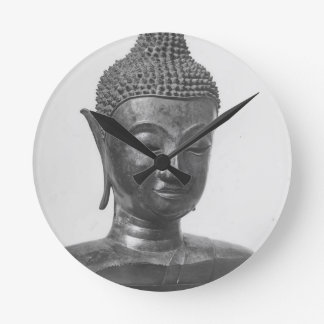 Buddha Head - 15th century - Thailand Round Clock