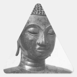 Buddha Head - 15th century - Thailand Triangle Sticker