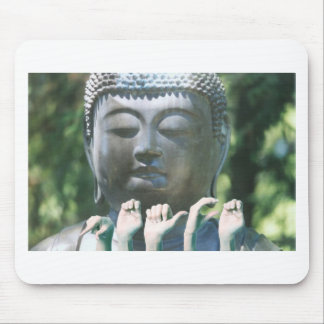 Buddha head & Peace ASL Mouse Pad