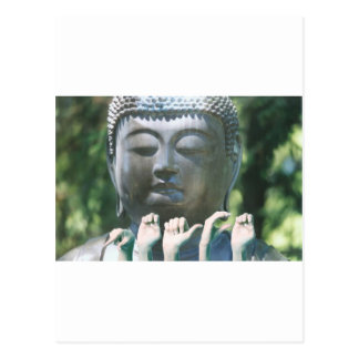 Buddha head & Peace ASL Postcard