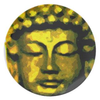Buddha head plate