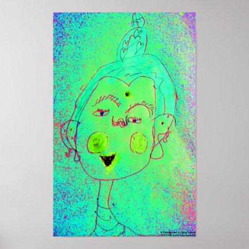Buddha Head Poster