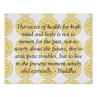 Buddha health quote inspirational poster