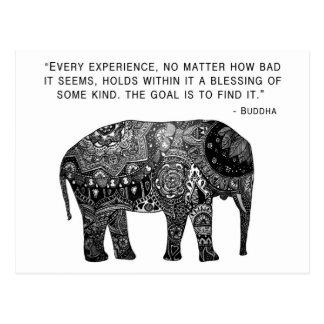 Buddha Henna Wisdom Elephant Postcard