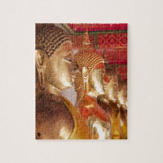Buddha images, Wat Pho, Bangkok, Thailand Jigsaw Puzzle