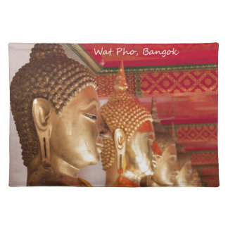 Buddha images, Wat Pho, Bangkok, Thailand Placemat