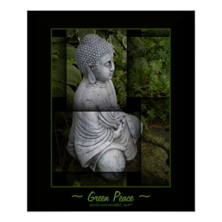 Buddha in a garden poster
