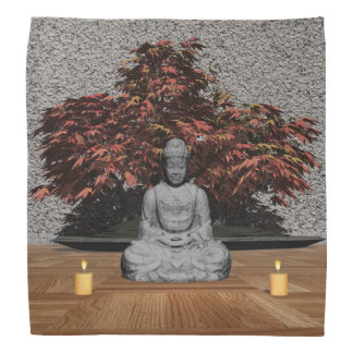 Buddha in a room - 3D render Bandana