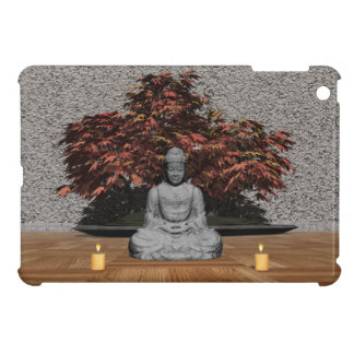 Buddha in a room - 3D render Cover For The iPad Mini