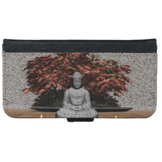 Buddha in a room - 3D render iPhone 6 Wallet Case