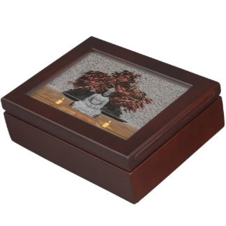 Buddha in a room - 3D render Keepsake Box