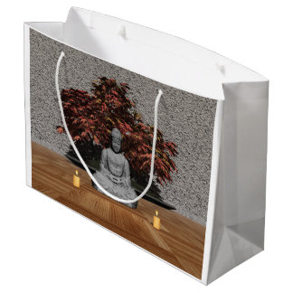 Buddha in a room - 3D render Large Gift Bag