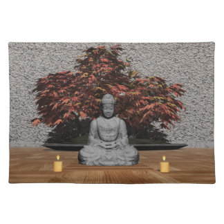 Buddha in a room - 3D render Placemat