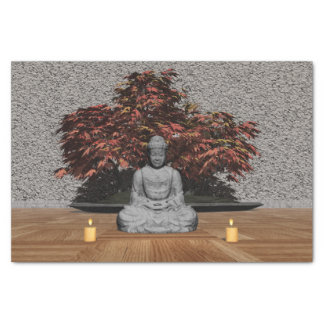 Buddha in a room - 3D render Tissue Paper