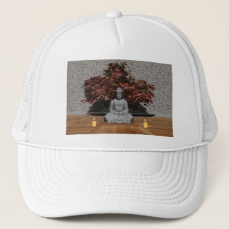 Buddha in a room - 3D render Trucker Hat