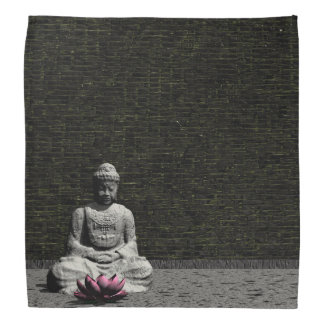 Buddha in grey room - 3D render Bandana