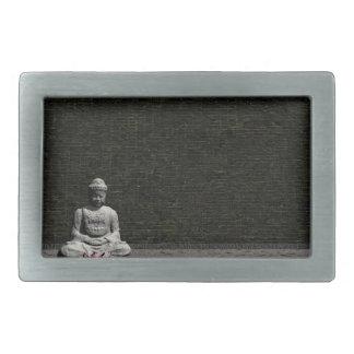 Buddha in grey room - 3D render Belt Buckle
