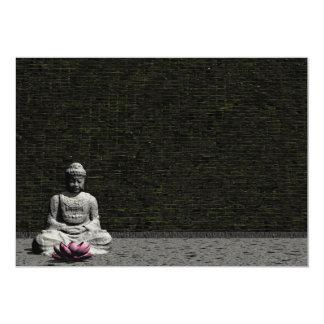 Buddha in grey room - 3D render Card