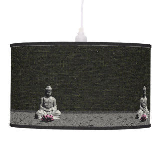 Buddha in grey room - 3D render Hanging Lamps