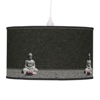 Buddha in grey room - 3D render Pendant Lamp