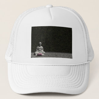 Buddha in grey room - 3D render Trucker Hat
