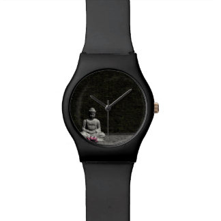 Buddha in grey room - 3D render Watch