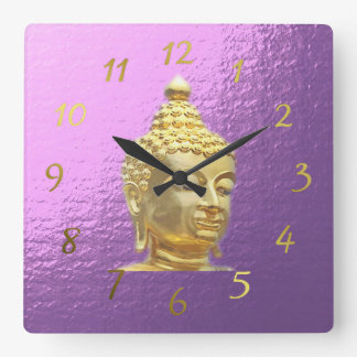 buddha in lilac clock