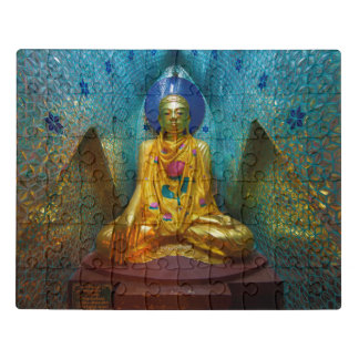 Buddha In Ornate Alcove Jigsaw Puzzle