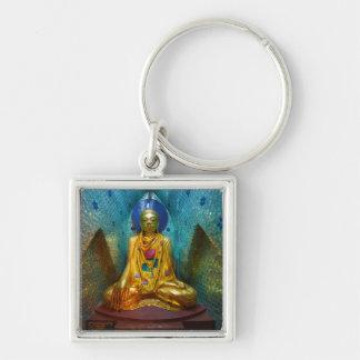 Buddha In Ornate Alcove Keychain
