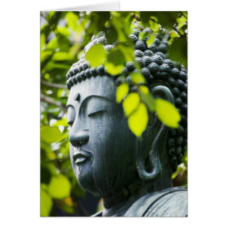 Buddha in Senso-ji Temple Garden Greeting Card
