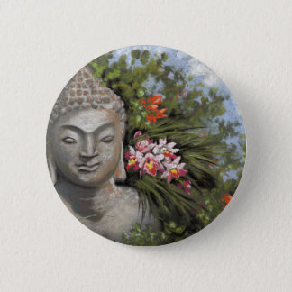 Buddha in the Jungle 2 Inch Round Button