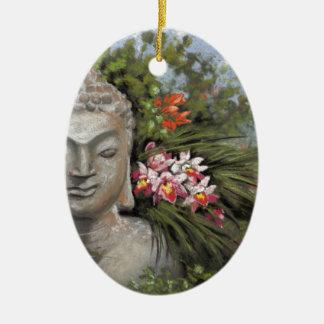 Buddha in the Jungle Ceramic Ornament