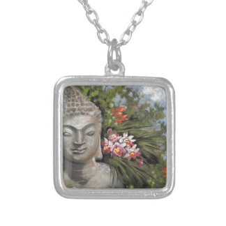 Buddha in the Jungle Silver Plated Necklace
