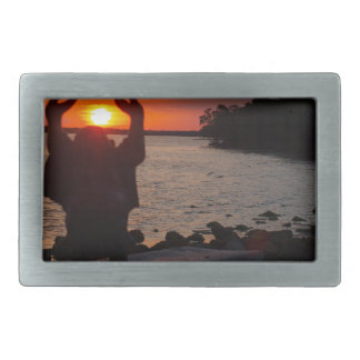 Buddha In the Sunset Belt Buckles