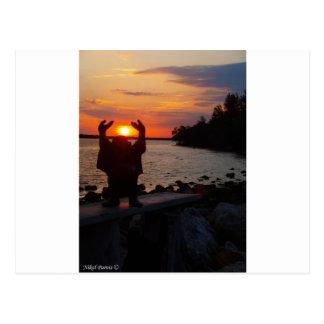 Buddha In the Sunset Postcard