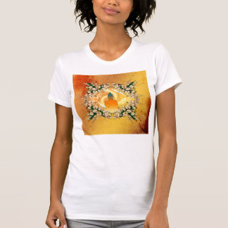 Buddha in the sunset t shirts