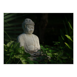 Buddha in thought poster