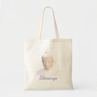 Buddha In White Blessings   Serene Meditative Budget Tote Bag