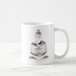 Buddha in White. Classic White Coffee Mug