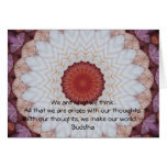 Buddha inspirational QUOTE Card